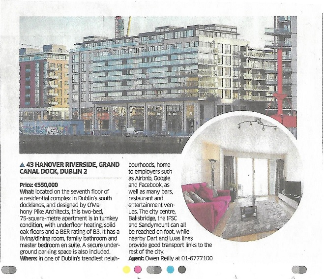 The Sunday Business Post 170219 - 43 Hanover Riverside - Owen Reilly