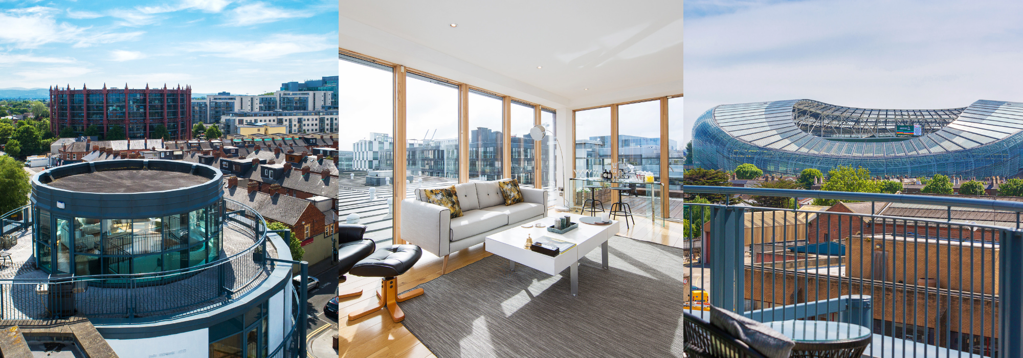 Three superb Penthouses to buy in Dublin right now