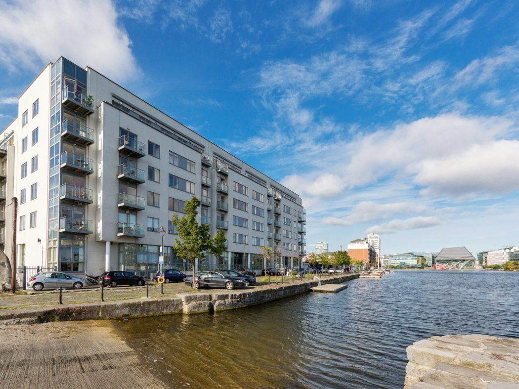 25 Grand Canal Wharf - Exterior from water